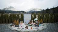 Gedenkstätte für die Opfer des Flugzeugabsturzes des Germanwings Fluges im französischen Le Vernet.