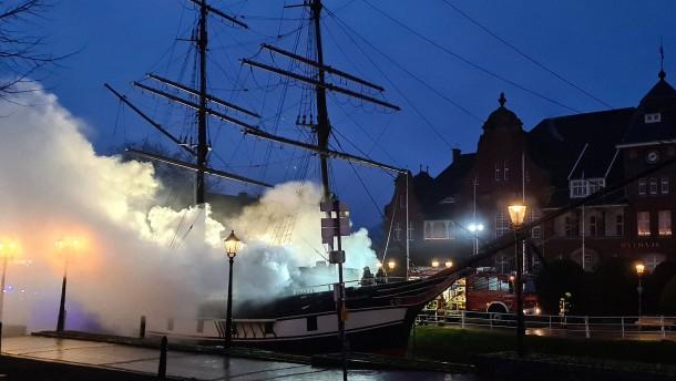 Brand auf Museumsschiff im Emsland