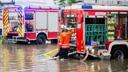 Feuerwehren nach Starkregen im Einsatz