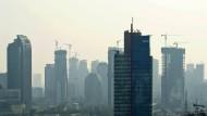 Hoch hinaus: Baustelle in Jakarta.