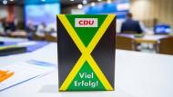 Schleswig-Holstein macht's vor: Tischdekoration beim Landesparteitag der CDU im Juni.