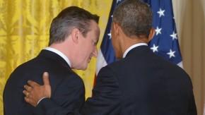 Cameron (l.) und Obama wollen ihre Geheimdienste enger zusammenarbeiten lassen