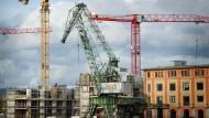Aufstrebend: Am Zollhafen wird an der Zukunft der Neustadt gebaut.