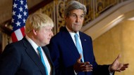 Der amerikanische Außenminister John Kerry und sein britischer Amtskollege Boris Johnson bei einem Treffen in London