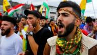 Über 10.000 Menschen demonstrierten in Köln gegen die türkische Militäroffensive in Syrien.