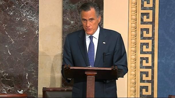 Mitt Romney stimmt bei Impeachement-Verfahren gegen Trump