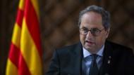Der Chef der katalanischen Regionalregierung Quim Torra am Mittwoch in Barcelona