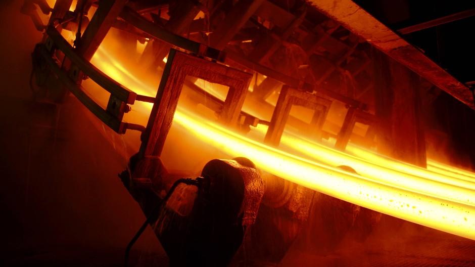 Stahlproduktion in Großbritannien: Bislang die einzige Industrie, die überhaupt Unterstützung der Regierung erhielt.