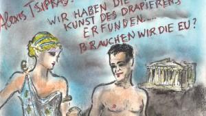 Alexsis Tsipras fast nackt