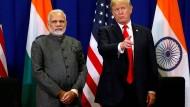 Indiens Regierungschef Narendra Modi und der amerikanische Präsident Donald Trump