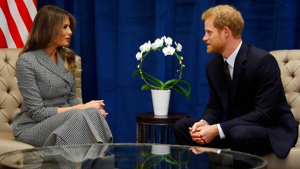 Melania Trump trifft Prinz Harry