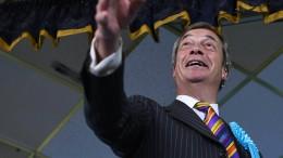 Farages Brexit-Partei ist stärkste Kraft im Königreich