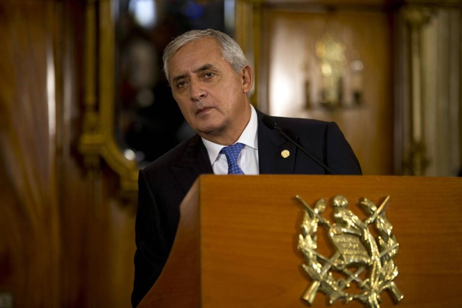 Chef eines Korruptionskartells? Guatemalas Präsident Otto Pérez Molina