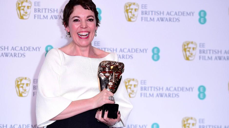 """Olivia Colman gewinnt den Bafta-Award als beste Hauptdarstellerin in """"The Favourite"""""""