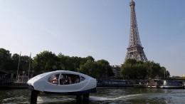 Mit dem Wassertaxi durch Paris
