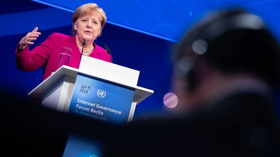 Bundeskanzlerin Angela Merkel (CDU) am Dienstag auf dem IGF in Berlin