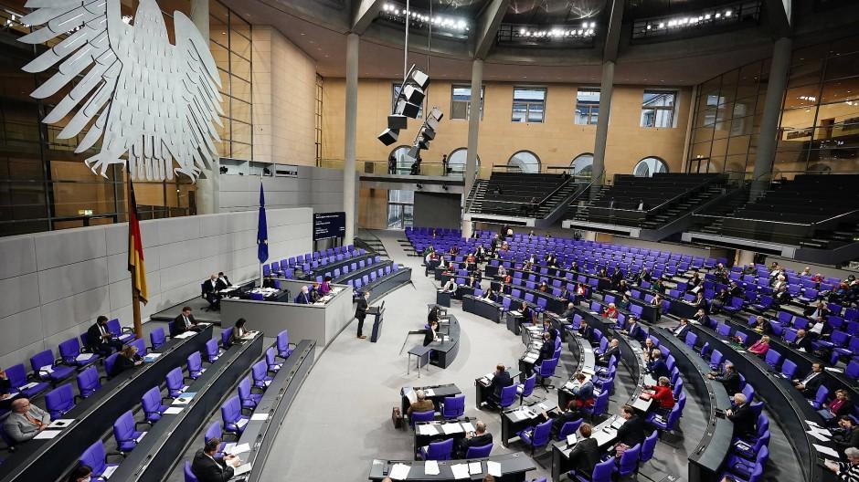 Sitzung im Bundestag am 8. Oktober 2020.