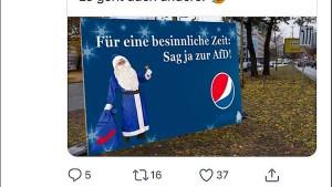 Pepsi prüft rechtliche Schritte gegen AfD-Anhänger