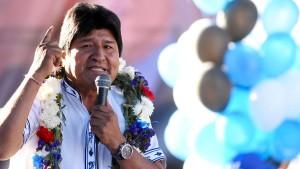 Morales hofft auf vierte Amtszeit