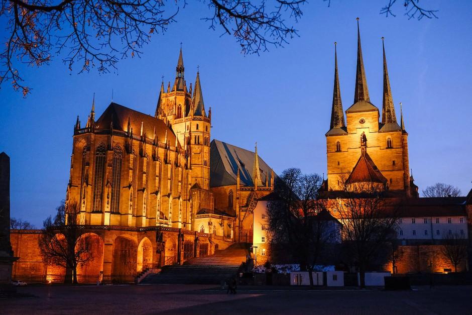 Der Erfurter Dom: Von der einzigen katholischen Fakultät im Osten Deutschlands ist im Konzept der Bischofskonferenz keine Rede.