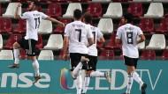 Jubel bei der deutschen U21: Ein hoher Sieg gegen Serbien