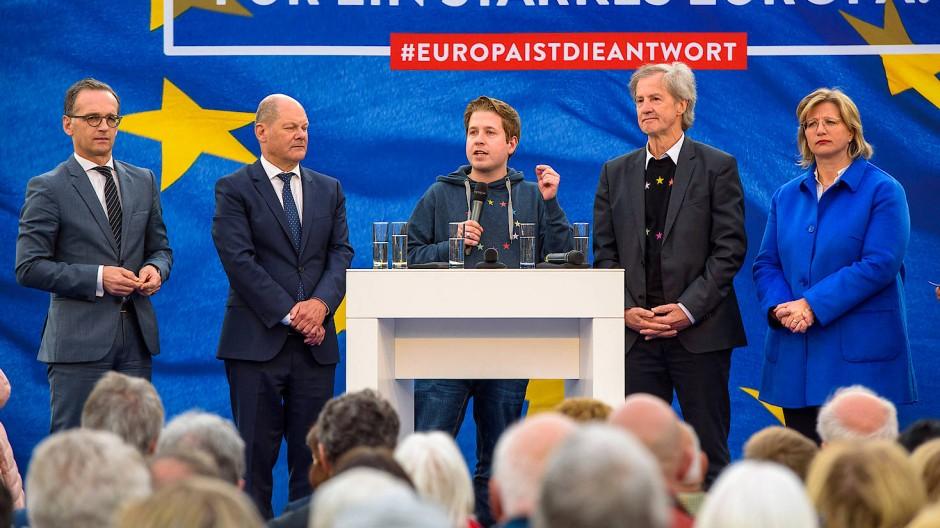 SPD startet in Europa-Wahlkampf