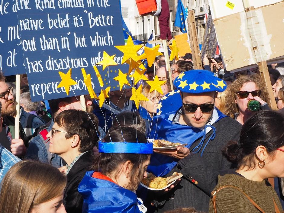 So viele Europa-Symbole sieht man sonst eher selten.