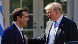 Trump und Tsipras überschütten einander mit Lob