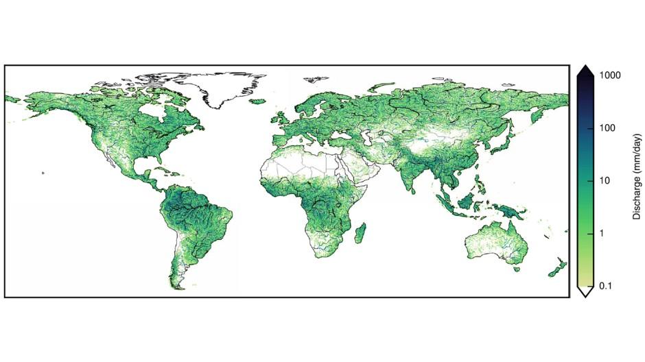 Historisch: Die Karte gibt die täglichen Regenmengen an, wie sie die Potsdamer Modelle nach der Berücksichtung von Unmengen hydrologischer und klimatischer Daten als Mittel zwischen den Jahren 1971 und 2004 ausgerechnet haben.