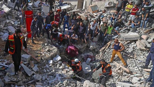 Haus des Hamas-Chefs in Gaza bombardiert