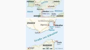 Infografik / Karte / Gibraltar