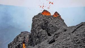 Beim Anblick des Vulkans ist alles vergessen