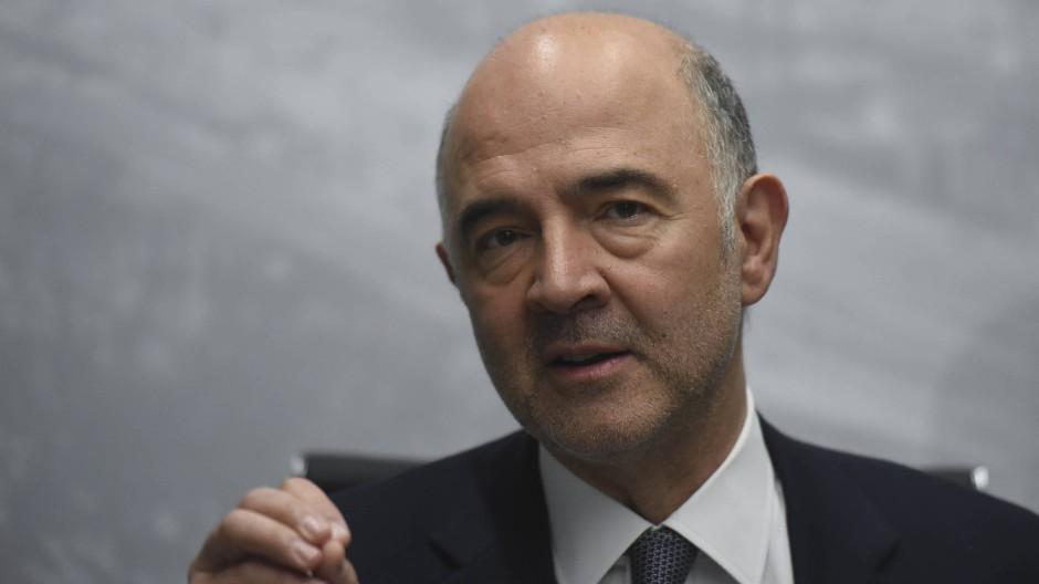 EU-Kommissar Pierre Moscovici während einer Pressekonferenz im Juli 2018 in Buenos Aires