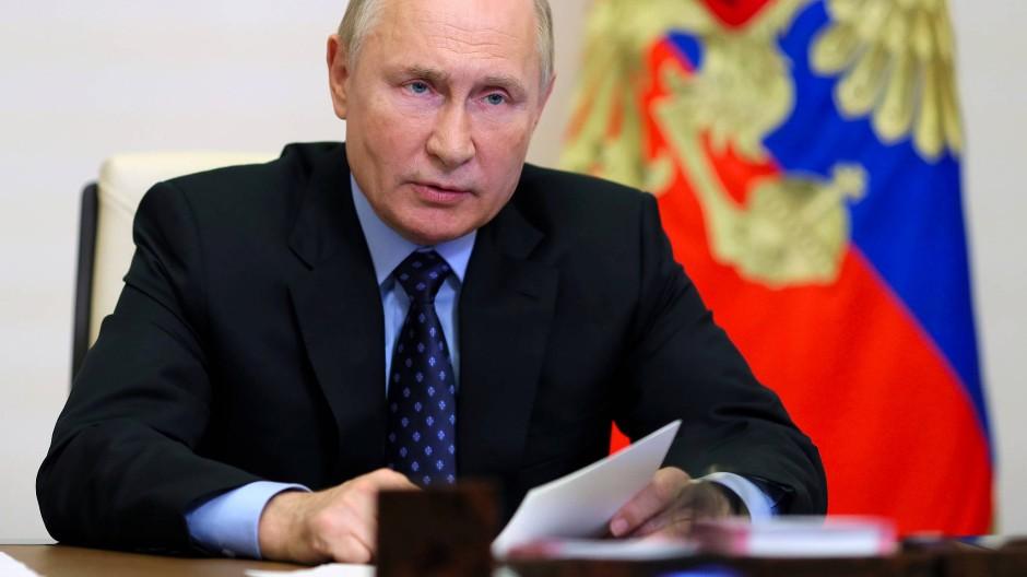 Russlands Präsident Vladimir Putin am 27. Oktober in Moskau