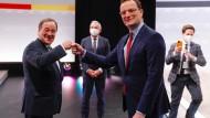 Der neue CDU-Chef Armin Laschet (links) und Bundesgesundheitsminister Jens Spahn