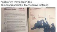 Flüchtlings-Satire zu Bundespresseball löst Empörung aus