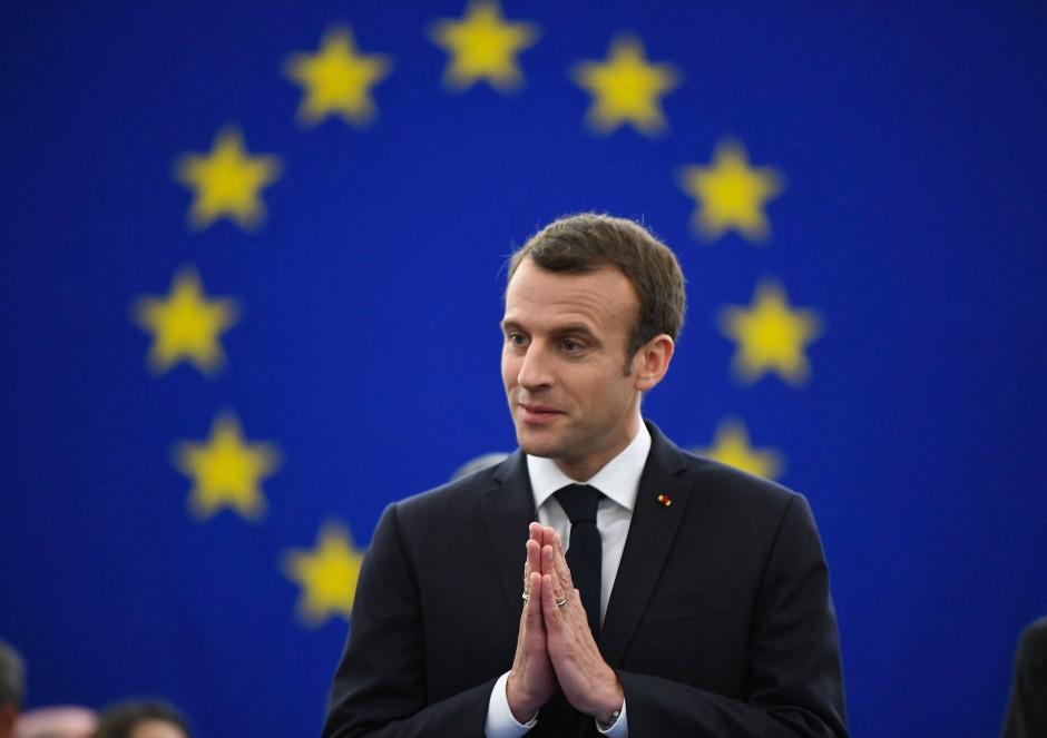 Wirbt für eine politische Lösung in Syrien: Emmanuel Macron