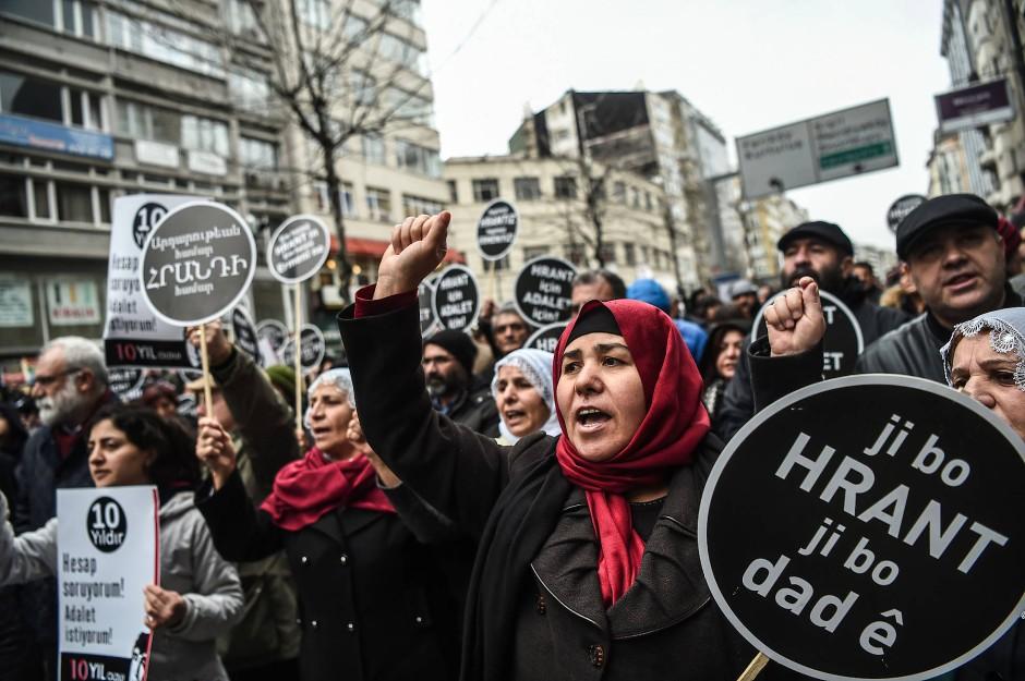 Protest in Istanbul zum zehnten Jahrestag der Ermordung