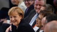 Kanzlerin Merkel im Juli während einer Veranstaltung zu ihrem Geburtstag.