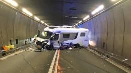 Fünf Verletzte nach schwerem Unfall im Gotthard-Tunnel