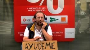 Bild / Spanien / Krise / Mann vor Plakat