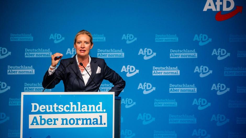 Die AfD-Spitzenkandidatin und Fraktionsvorsitzende Alice Weidel am 11. September