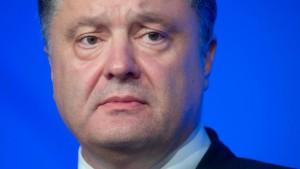 Poroschenko: Friedensplan ist in Gefahr