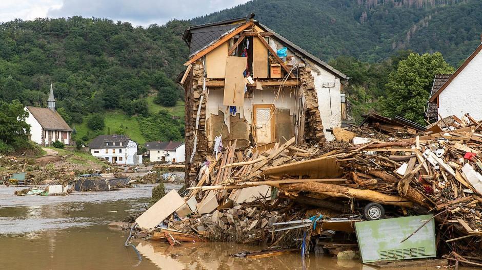 In Altenburg nach der Flutkatastrophe