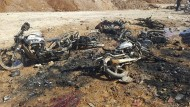 Ein Bild der Zerstörung nach dem Selbstmordanschlag im syrischen Al Bab am Freitag