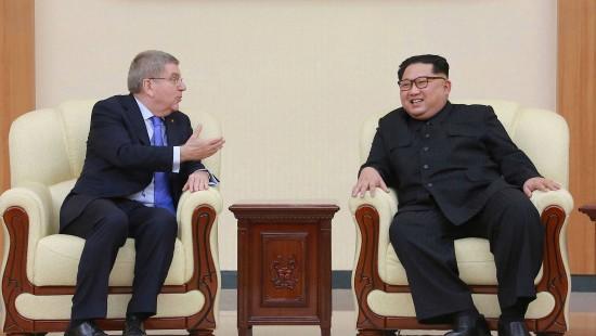 IOC-Präsident trifft Kim Jong-un