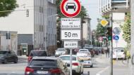 Eingeschränkt: Die Heinrichstraße in Darmstadt ist als Tempo-30-Zone ausgewiesen.