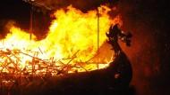 Flammendes Wikinger-Fest auf den Shetland-Inseln