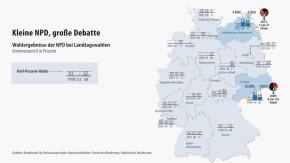 Infografik / Karte / NPD / Kleine NPD, große Debatte