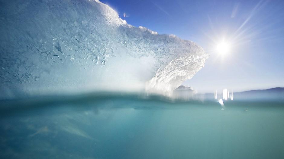 Ein Eisberg treibt im Nuup Kangerlua Fjord im Südwesten Grönlands.